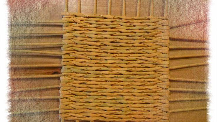 Base quadrata o rettangolare intrecciata per cestino