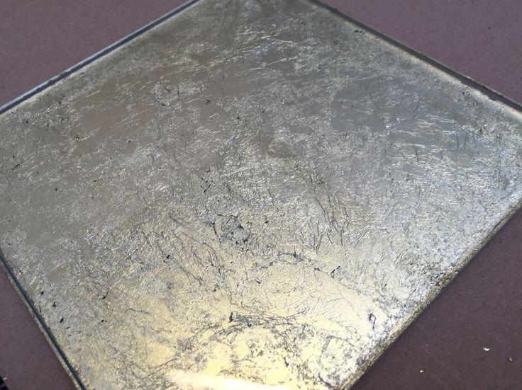 Copper Leaf Glass Splashback