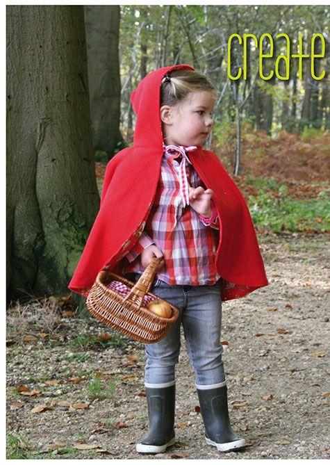 DIY little red riding hood cape    fairy tales en sprookjes voor kinderen de leukste zelfmakers, diy, bento, fashion en meer op moodkids.nl