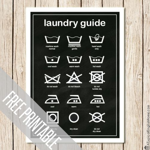 A Typical English Home: Laundry Guide Printable