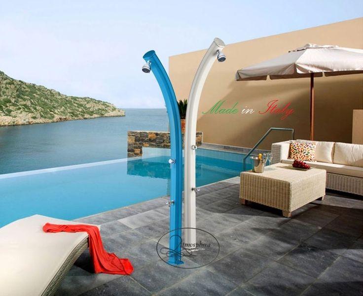 Doccia solare Jolly A520 in alluminio miscelatore e lavapiedi giardino piscina