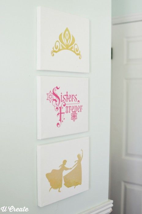 Frozen Canvases for Little Girl�s Bedroom