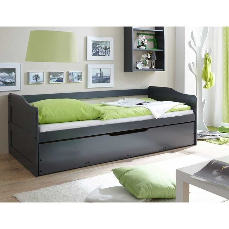 sofabett tamega in dunkelgrau mit bettkasten jugendzimmer pinterest bettkasten dunkelgrau. Black Bedroom Furniture Sets. Home Design Ideas
