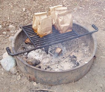Breakfast In A Bag over a campfire~awesome idea!!