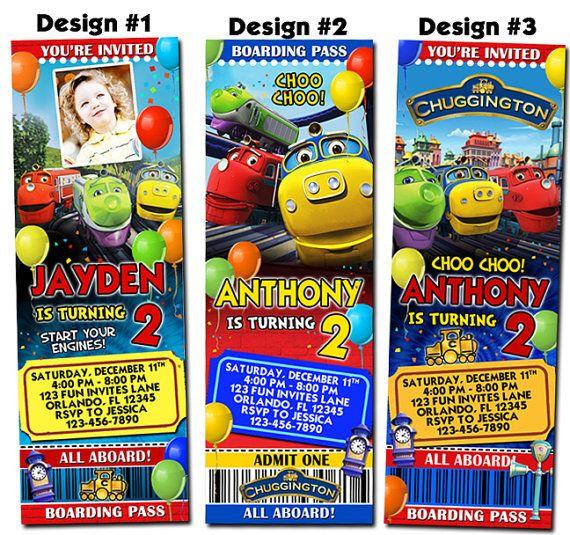 83 best images about Chuggington Party Ideas – Chuggington Party Invitations