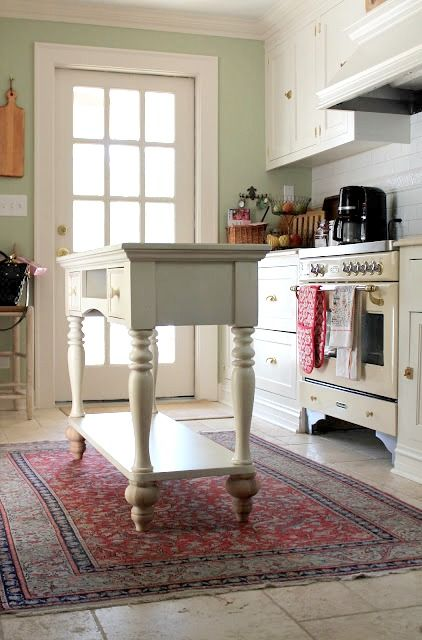 Kitchen Island Created from a Buffet