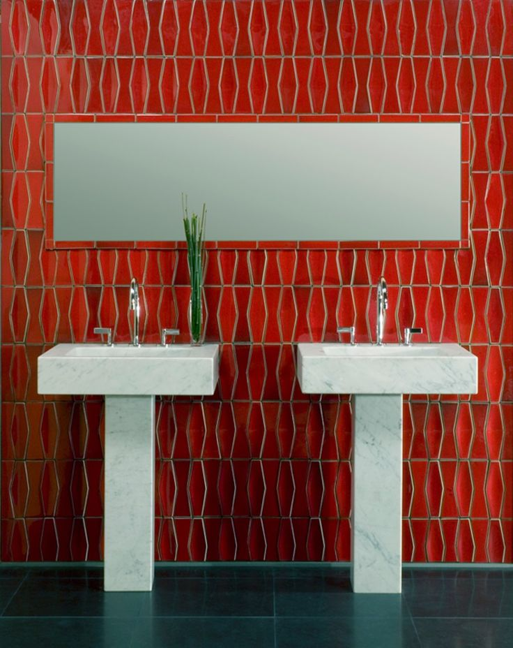 heath ceramics fire red tiles for a bathroom wall someday i will have heath tiles in my bath