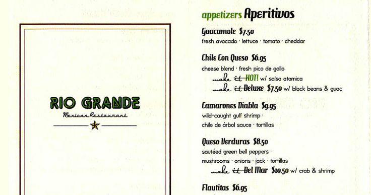 rio grande restaurant   The Rio Grande Mexican Restaurant   Phone-Order Menu