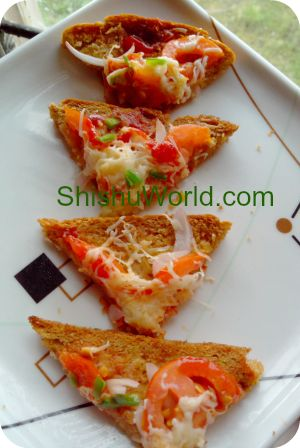 Easy snack for kids- bread pizza