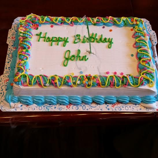 Happy birthday John! Time for some ice cream cake ...