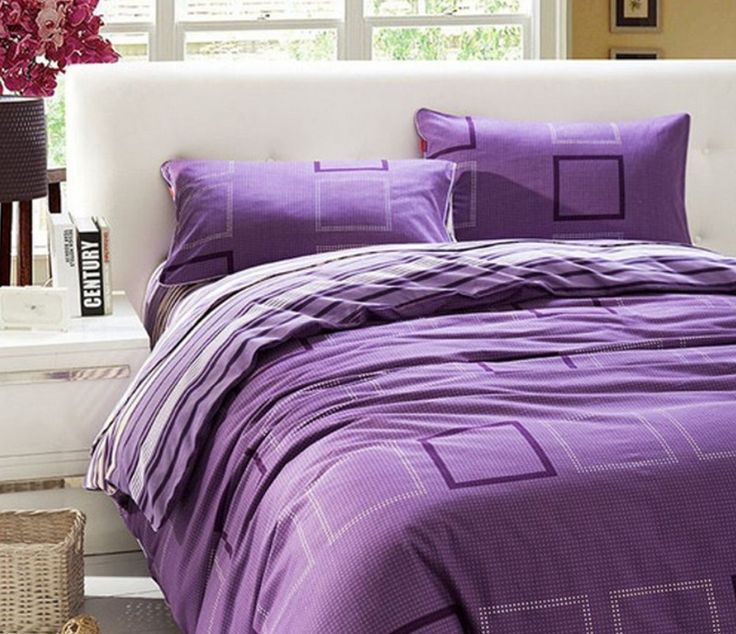 Purple and White Bed Sheets