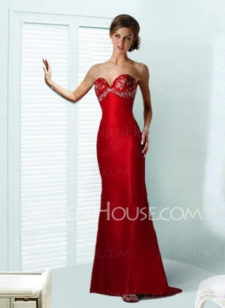Evening Dresses - $123.99 - Charming Sheath Sweetheart Floor-Length Charmeuse Evening Dresses with Beading (017002271) http://jenjenhouse.com/Sheath-Sweetheart-Floor-length-Charmeuse-Evening-Dresses-With-Beading-(017002271)-g2271