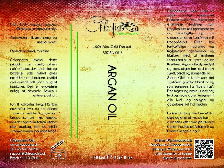 Chleopatra Argan Oil - Label Design