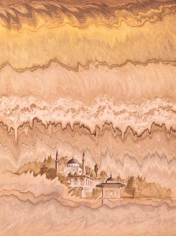 Günümüz sanatçılarından Hikmet Barutcugil'in ebru eseri.  #ebru  #hikmetbarutçugil #art #artwork #fineart #ottomanart #karinsanat #colors #marbling #artist