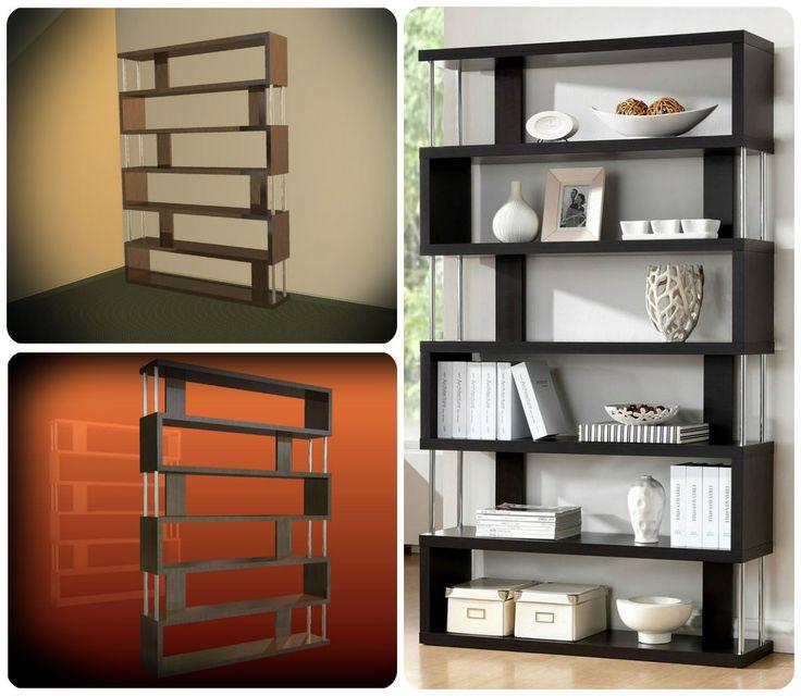 Knihovna - kombinace dřevo kov