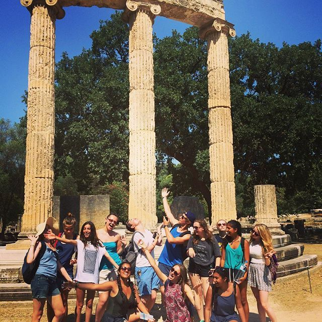 Taking time off from the beach to kick it with the Gods in Olympia!  #gvi #athens #volunteerabroad #travel