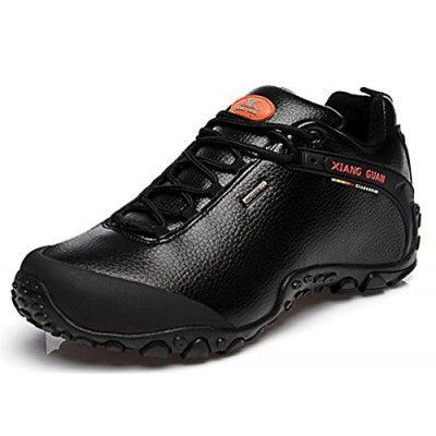 Xiangguan Mens Hiking Shoes For outdoor trekking Trail Working Casual Walking Black Size 11