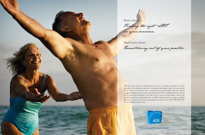 """ADS - """"Worry about finding the right SPF in your sunscreen."""""""