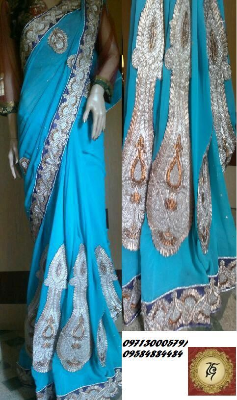 Heavy Designer saree (with blouse pcs)