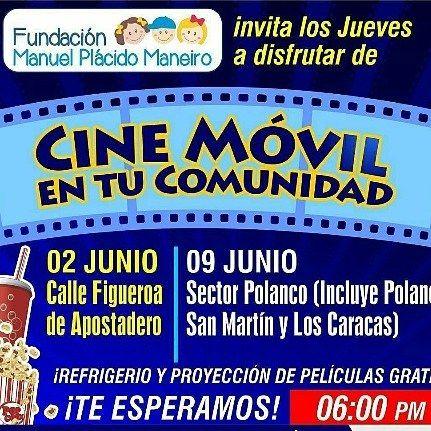 """Hoy a las 6PM habrá función de """"Cine en tu Comunidad"""" en la Calle Figueroa de Apostadero. Películas y diversión para todos con la #fundacionmanuelplacido Asiste! #ManeiroIdealParaTi #Cultura #Recreación #Cine #Regrann #IslaDeMargarita #Margarita #Mgta #IslaDeMargarita#EventosEnLaIsla #CarteleraDeCine #Cartelera #Cine #Miercoles #Venezuela #CineEnMargarita #CineMgta #CineEnLaIsla #Regrann"""