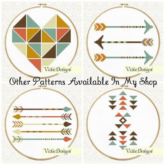 Triangles Geometric Minimalist Tribal Cross by VickieDesigns