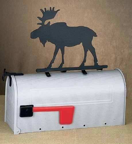 """Meyda Tiffany 22415 Black Decorative Accessories Rustic / Country Mailbox Ornaments from the Decorative Accessories Collection by Meyda. $90.00. Moose Mailbox Ornament Additional Animals and """"Profiles"""" Available: Bear, Canoe, Deer, Duck, Elk, Fern, Gecko, Horse, Kokpeli, Lady Slippers, Loon, Sea Horse, Tree, Trout, and Wolf Available in Black, Antique Copper, Steel, Natural Rust, and Pewter, Please Call to Customize LEAD TIME IS 4-6 WEEKS ON THIS ITEM"""