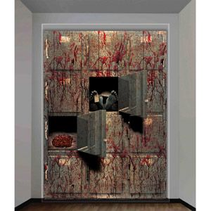 morgue wall halloween decoration pretty gory 4 x 53 is big - Gory Halloween Decorations