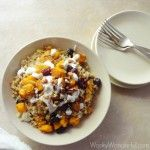 Pumpkin Quinoa Bowl - minus the dressing this sounds incredible!