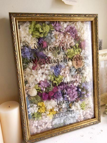 大好きな写真やお花を集めて♡フォトフレームのウェルカムボード10選にて紹介している画像