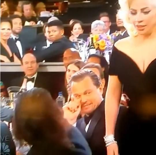 The Best Moment of the Golden Globes Was Leonardo DiCaprio's Reaction to Lady Gaga