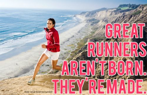 runners aren't born. they're made with sweat, determination and hard work.: Aren T Born, Runners Aren T, Fitness Inspiration, Exercise Workout, Fitness Motivation, Running Quotes, Health, Running Motivation