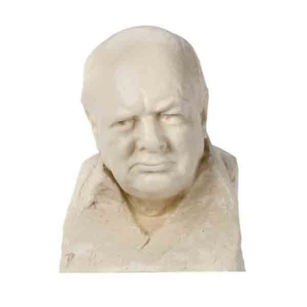 Reproduction of a bust originally sculpted in the 1950s by Oscar Nemon.