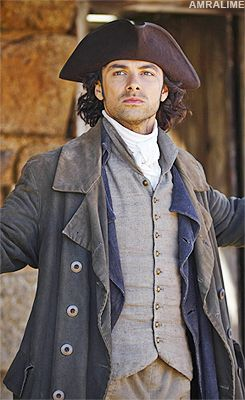 Giving Darcy a run for his money. Aidan Turner as Poldark