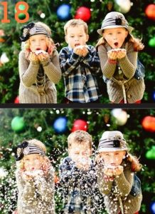 blow on allyna and have her a little more forward than us =) DIY Family Photo Ideas for Christmas|Random Tuesdays
