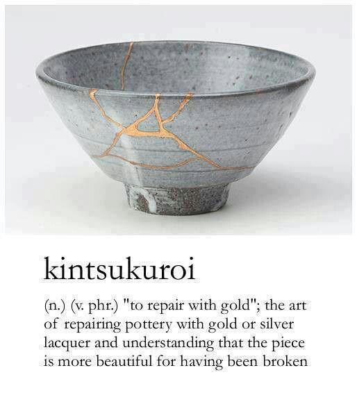 More beautiful for being broken...