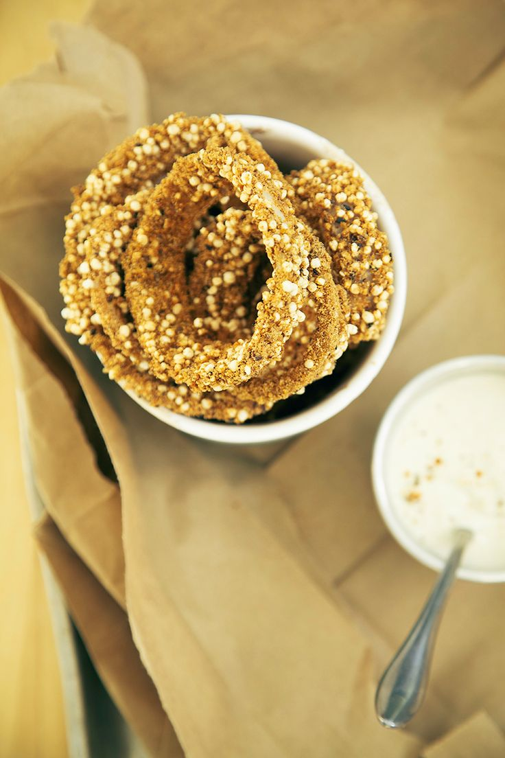Quinoa Onion Rings with Horseradish Dip   The First Mess