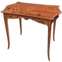 """French Art Nouveau """"Magnolia"""" Desk by, Louis Majorelle 10"""