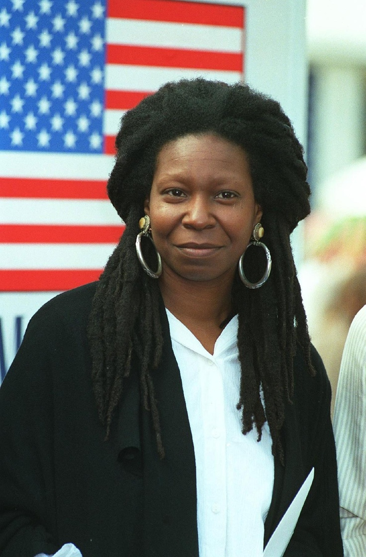 Whoopi Goldberg *always had long hair. My sisters had long hair that was even LESS kinky; more spiral curls.