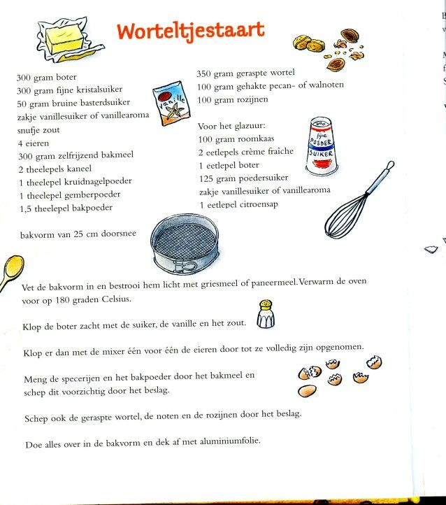 recept worteltjestaart