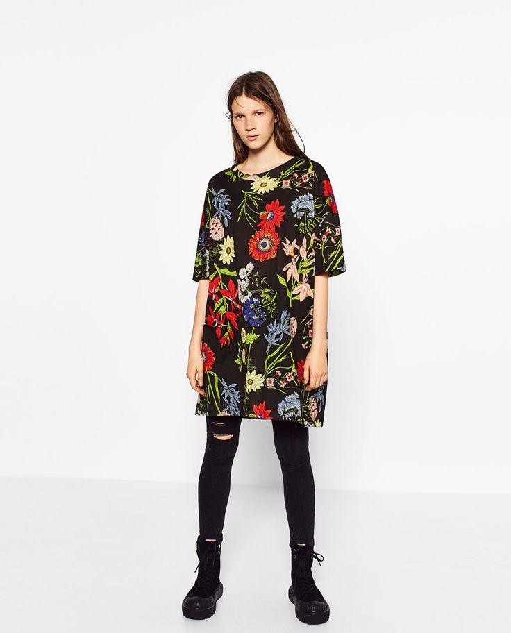 Image 1 of PRINTED T-SHIRT DRESS from Zara