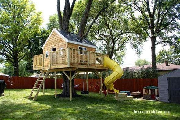Casa del rbol para ni os en jard n resident evil for Casa infantil jardin