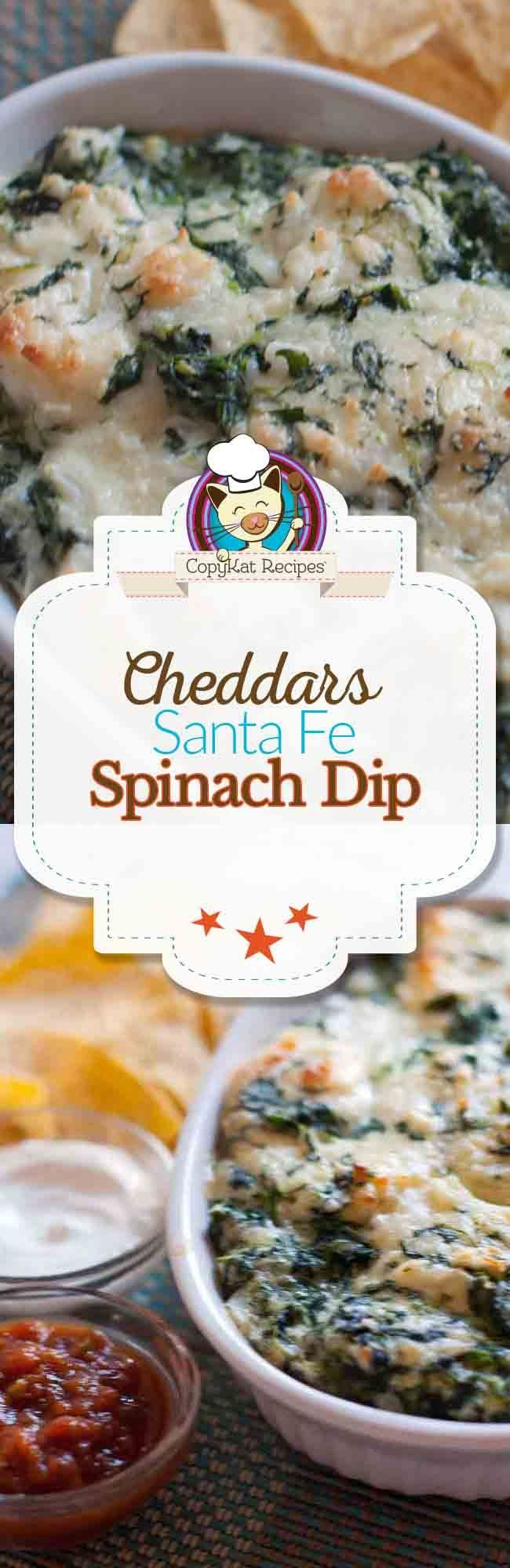 ... Cheddars Santa Fe Spinach Dip at home with this easy copycat recipe