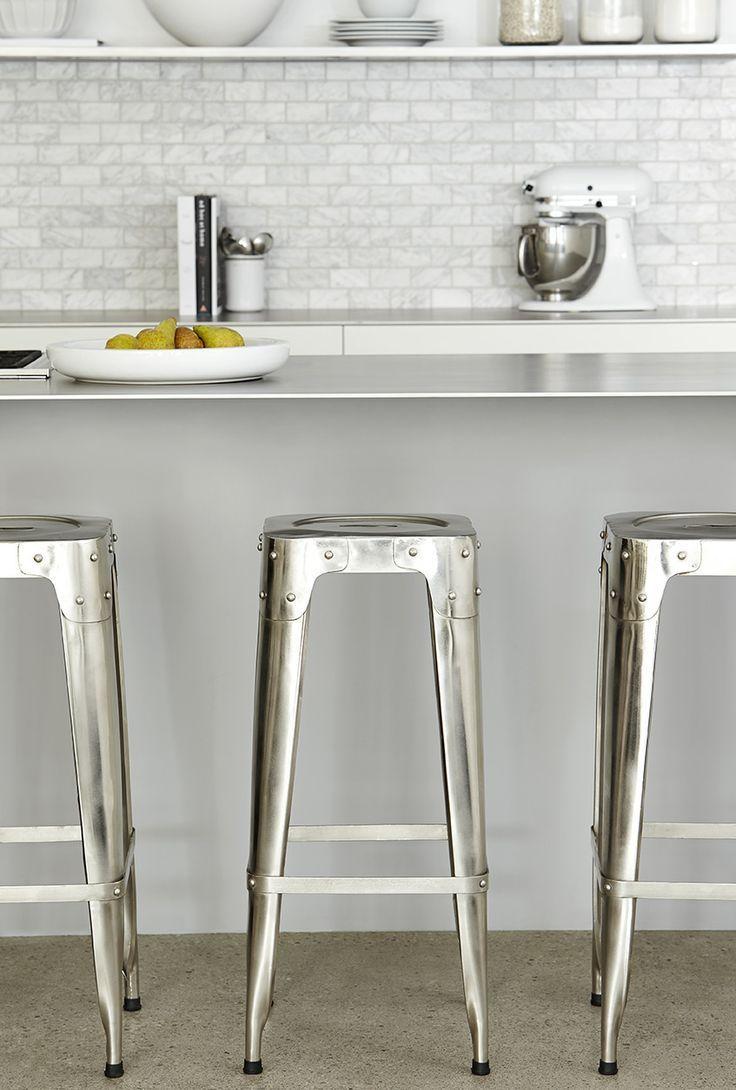 Silver bar stools