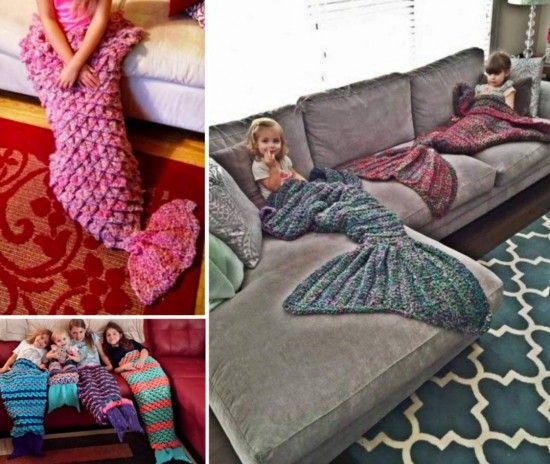 Free Crochet Patterns Childrens Blankets : Mermaid Crochet Tail Blanket Patterns Free Video Tutorial ...
