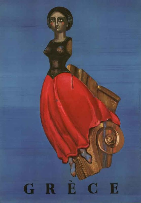 Αφίσα για τον Ε.Ο.Τ. (;)   Σχεδιαστής: Σπύρος Βασιλείου   1961 Poster for the Greek National Tourist Organization (?)   Designer: Spyros Vassiliou   1961