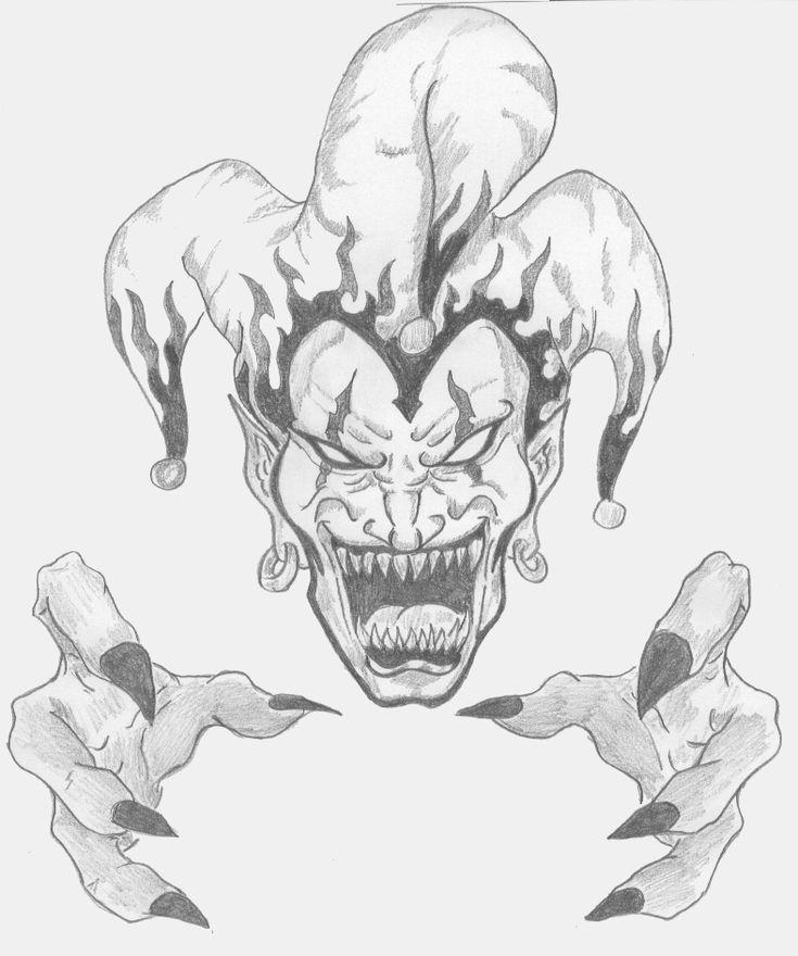 Clown Face Line Drawing : Best jester tattoo ideas on pinterest clown face