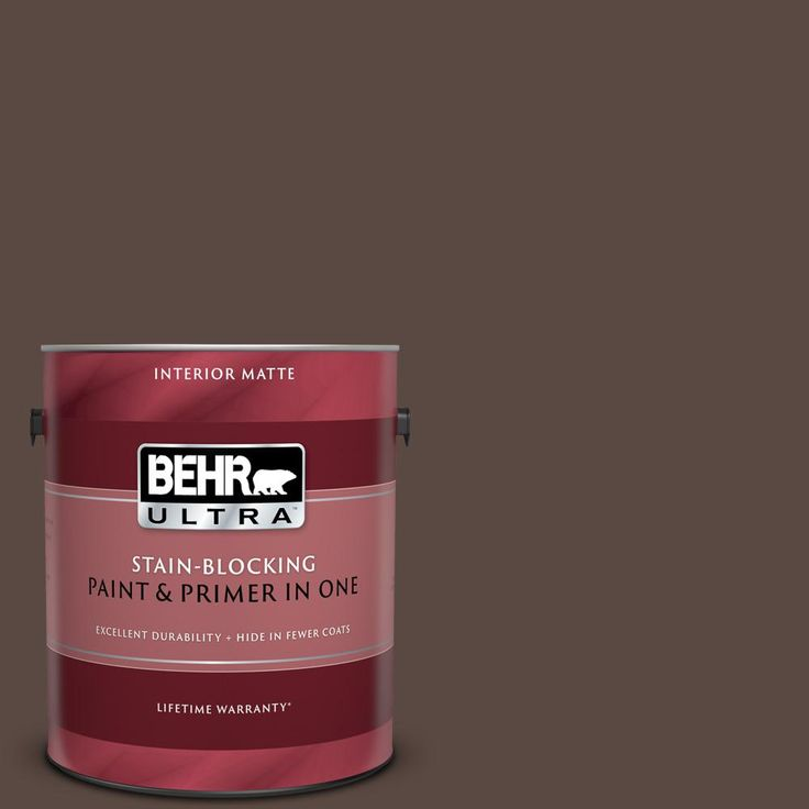 BEHR Premium Plus 8 oz. #MQ2-35 Cabin in the Woods Flat Interior/Exterior Paint and Primer in One Sample