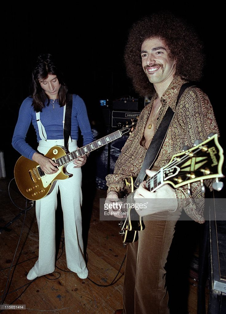 Steve Perry and Neal Schon perform with Journey at a TV show taping at the Japan Center Theater in San Francisco - January 7, 1978.