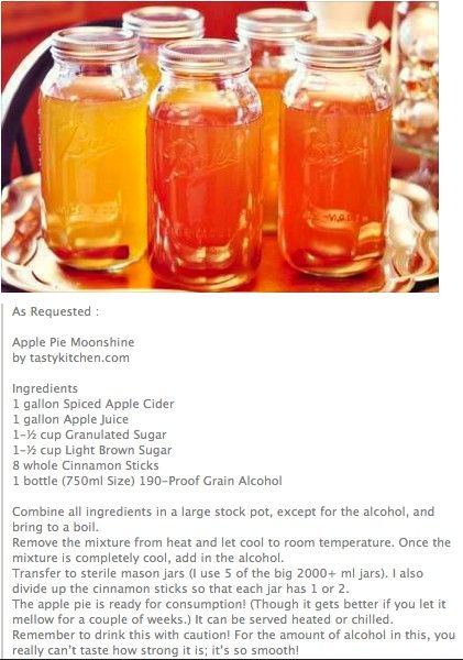 Making Apple Pie Drink With Everclear