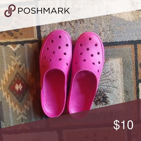 Pink crocs Size 8 pink crocs. Perfect condition CROCS Shoes Mules & Clogs